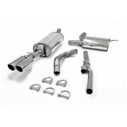 Sistema di scarico in acciaio Inox 2x80 per Audi A4 B5 Limo./Avant