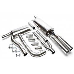 Sistema di scarico in acciaio Inox 2x76 per Audi A4 B5