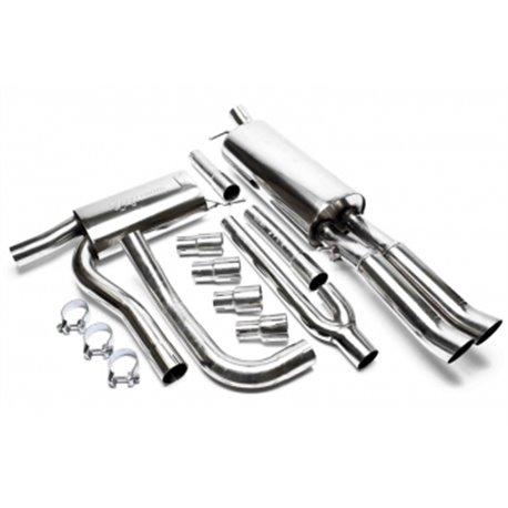 Sistema di scarico in acciaio Inox 2x76 DTM per Audi A4 B5