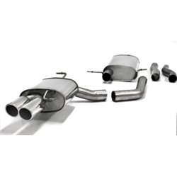 Sistema di scarico in acciaio Inox 2x80 per Audi A4 / A5 B8 1.8T 2WD + A4 / A5 B8 2.0T Quattro