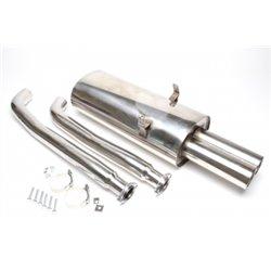 Sistema di scarico in acciaio Inox 2x76 per BMW 3er E36
