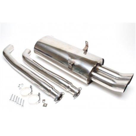 Sistema di scarico in acciaio Inox 2x76 DTM per BMW 3er E36