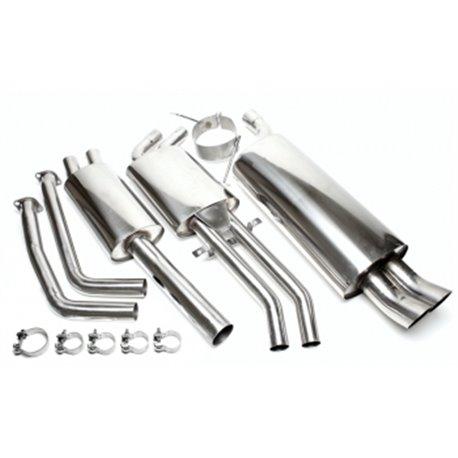 Sistema di scarico in acciaio Inox 2x76 DTM BMW Serie 3 E46