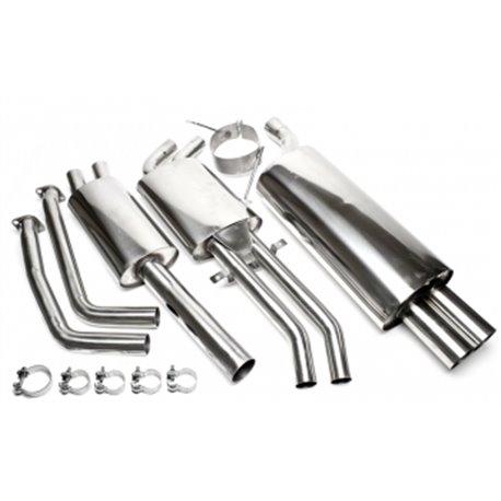 Sistema di scarico in acciaio Inox 2x76 BMW Serie 3 E46