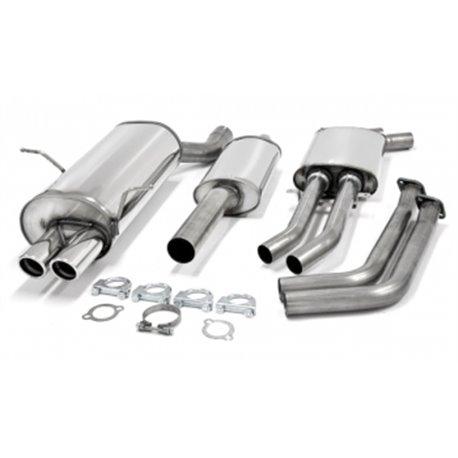 Sistema di scarico in acciaio Inox 2x70 BMW Serie 3 E46 320i / 325i / 330i M54