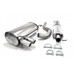 Sistema di scarico in acciaio Inox 2x70 BMW Serie 3 E90 / E91 325i / 330i