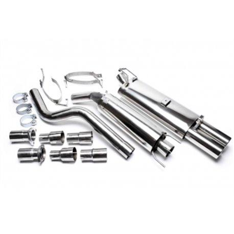 Sistema di scarico in acciaio Inox 2x76 Opel Astra F-CC / Cadetto E-CC / Cabrio