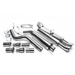 Sistema di scarico in acciaio Inox 2x76 DTM Opel Astra F-CC / Cadetto E-CC / Cabrio