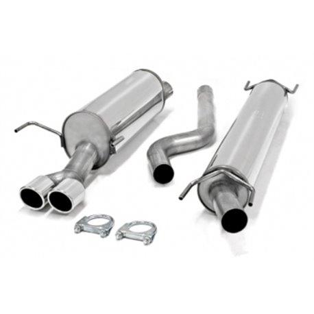 Sistema di scarico in acciaio Inox 2x80 Opel Astra H 5 porte / GTC 3 porte