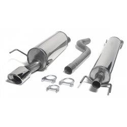 Sistema di scarico in acciaio Inox 1x90x120 Opel Astra H 5 porte / GTC 3 porte