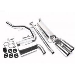 Sistema di scarico in acciaio Inox 2x76 Opel Calibra A