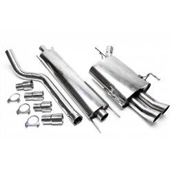 Sistema di scarico in acciaio Inox 2x76 DTM Opel Corsa C