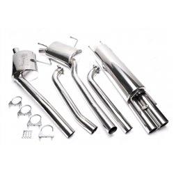 Sistema di scarico in acciaio Inox 2x76 Opel Omega B / 6-Cilindri
