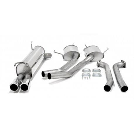 Sistema di scarico in acciaio Inox 2x80 Opel Omega B Caravan