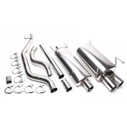 Sistema di scarico in acciaio Inox 2x76 Opel Vectra C