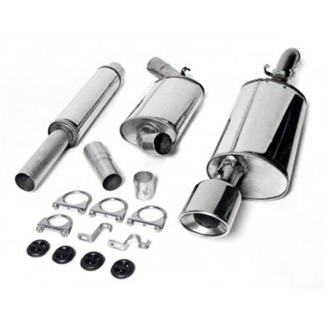Sistema di scarico in acciaio Inox 1x90x120 per Volkswagen Corrado