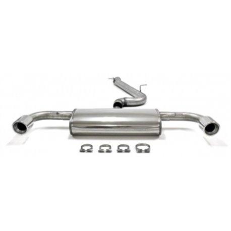 Sistema di scarico in acciaio Inox 2x80 per Volkswagen Eos
