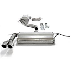 Sistema di scarico in acciaio Inox 2x80 per Volkswagen Scirocco III