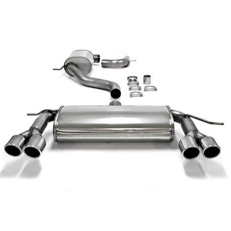 Sistema di scarico in acciaio Inox 2x2x80 per Volkswagen Scirocco III