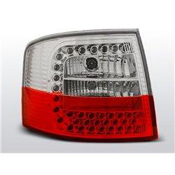 Coppia fari Led posteriori Audi A6 C5 97-04 Avant Rossi e bianchi