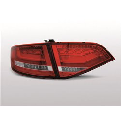 Coppia fari Led Bar posteriori Audi A4 B8 08-11 berlina Rossi