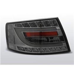 Coppia fari Led Bar posteriori Audi A6 C6  04-08 berlina Chrome Fume