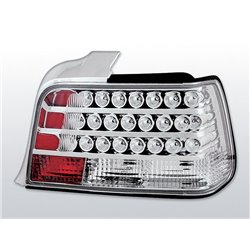Coppia fari Led posteriori BMW Serie 3 E36 berlina 90-99 Chrome