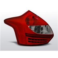 Coppia fari Led posteriori Ford Focus III HB 11-14 Rossi e Bianchi