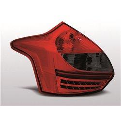 Coppia fari Led posteriori Ford Focus III HB 11-14 Rossi e Fume