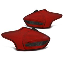 Coppia fari Led posteriori Ford Focus III HB 2014- Rossi Fume