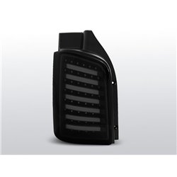 Coppia fari Led posteriori Volkswagen T5 Transporter 09-15 Neri Fume