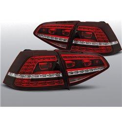Coppia fari Led posteriori Volkswagen Golf VII 13- GTI Look Rossi e Bianchi
