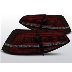 Coppia fari Led posteriori Volkswagen Golf VII 13- GTI Look Rossi Fume