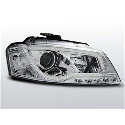 Fari Led vera luce diurna con tubo fibra ottica Audi A3 8P 08-12