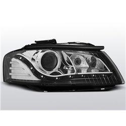 Coppia di fari a Led stile luce diurna Audi A3 8P 03-08