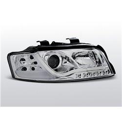 Fari Led vera luce diurna con tubo fibra ottica Audi A4 B6 00-04