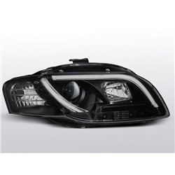 Fari Led vera luce diurna con tubo fibra ottica Audi A4 B7 04-08