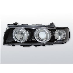 Fari Angel Eyes BMW Serie 7 E38 94-98 Neri