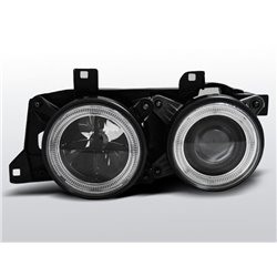Fari Angel Eyes BMW Serie 7/5 E32 / E34 86-95 Neri