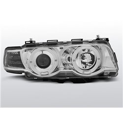 Fari Angel Eyes Xenon BMW serie 7 E38 98-01 Chrome