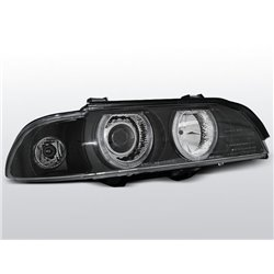 Fari Angel Eyes Xenon BMW Serie 5 E39 95-03 Neri