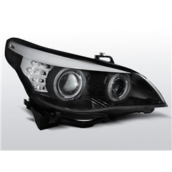 Fari Angel Eyes BMW Serie 5 E60 / E61 03-07 Neri