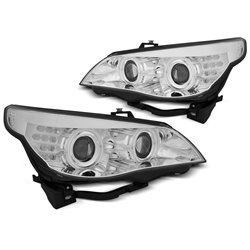 Fari CCFL Angel Eyes BMW Serie 5 E60 / E61 03-07 Chrome