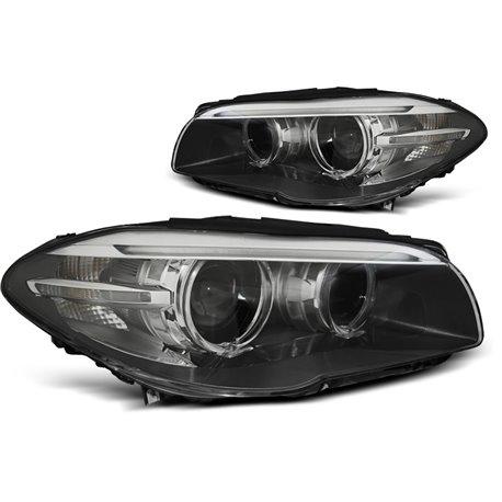 Fari anteriori Xenon e DRL vera luce diurna BMW F10-F11 10-13 Black