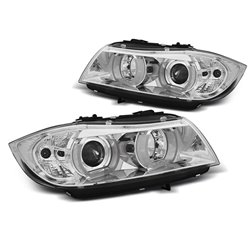 Fari Xenon 3D Angel Eyes BMW Serie 3 E90 / E91 05-08 Chrome