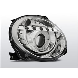 Fari Led Angel Eyes Fiat 500 2007-