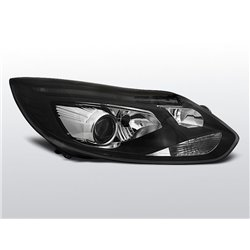 Fari Led stile luce diurna con tubo fibra ottica Ford Focus MK3 11-14 Neri