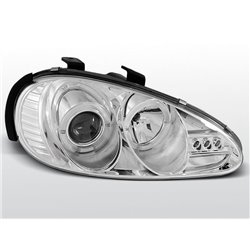 Coppia di fari Angel Eyes Mazda MX3 91-98 Chrome
