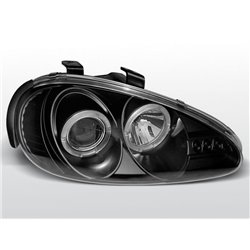 Coppia di fari Angel Eyes Mazda MX3 91-98 Neri