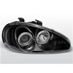 Coppia di fari Angel Eyes Mazda MX3 91-98 Neri